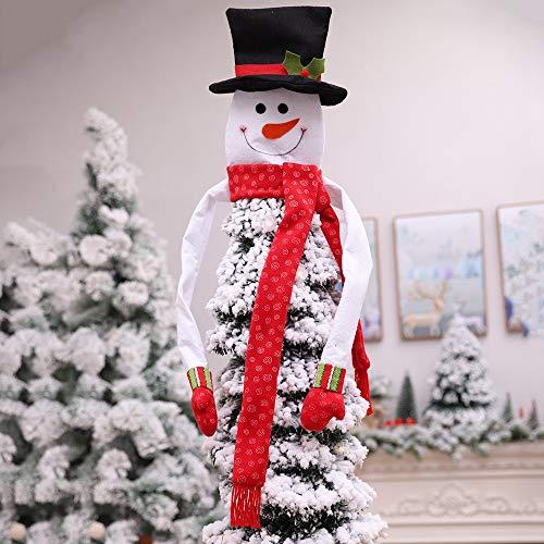 JUNMAONO Weihnachts Dekoration,Schneemann Baumspitze Dekoration,Weihnachtsbaum Topper...