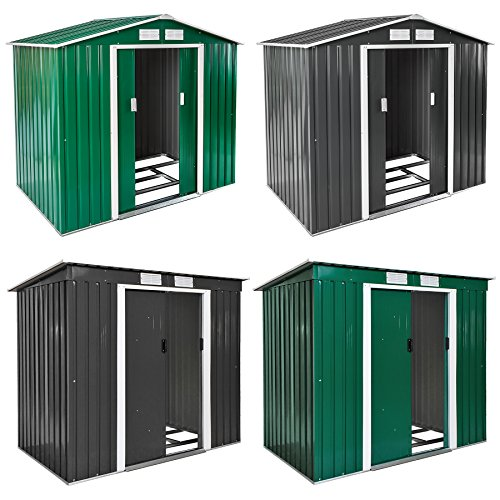 TecTake Abri de jardin en métal cabane à outils rangement | + fondation | diverses couleurs au...