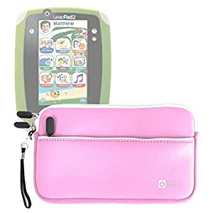 DURAGADGET Pink Durable Water Resistant Carry Case - Compatible with the Leapfrog Leapster 2, Leapster Explorer and LeapsterGS Explorer range of kids tablets