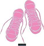 CLICKANDPRINT Aufkleber » Sneakers, 110x107,9cm, Hellrosa • Wandtattoo / Wandaufkleber / Wandsticker / Wanddeko / Vinyl