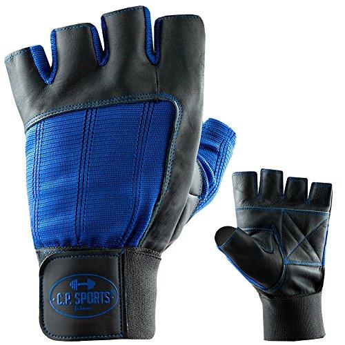 Bandagen-Handschuh Leder M/8 = 18-20cm blau C.P. Sports
