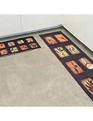 CHENGYI Alfombra La puerta del pasillo Alfombras de puerta cocina Otomanos cuarto de baño Estera antideslizante Tiras largas Absorción de agua Hogar Alfombrillas de baño alfombrillas de tierra ( Tamaño : 60*90cm )