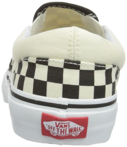 Vans Classic Slip-on,Unisex - Kinder Slipper Black/White Checker/White