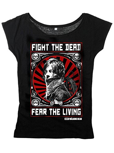 The Walking Dead Daryl Dixon - Fight Maglia donna nero M