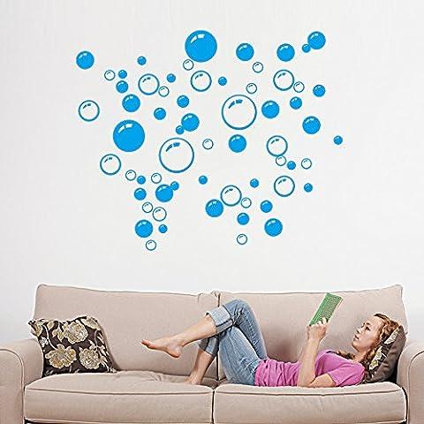 Pegatina de pared adhesivo decorativo de burburjas color azul