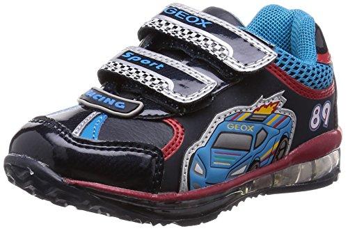 Geox B Todo Boy B, Sneaker, Ragazzo, Multicolore (Dk Navy/Red), 21