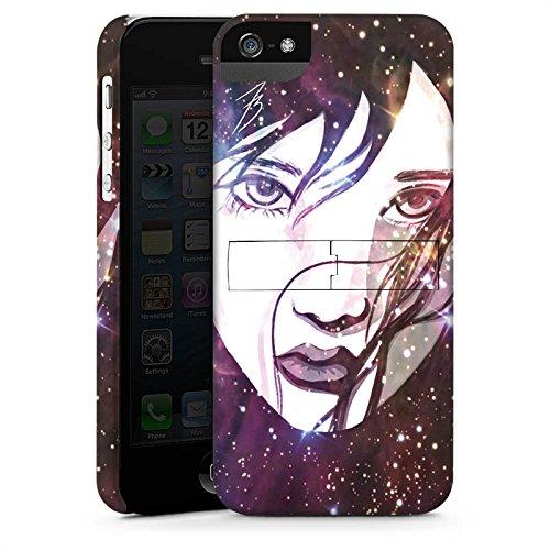 Apple iPhone X Silikon Hülle Case Schutzhülle Gesicht Galaxy Mädchen Premium Case StandUp