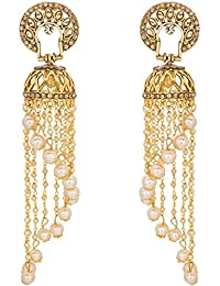The Luxor Gold Plated Dangler Jhumki Earrings For Women (ER-1742)