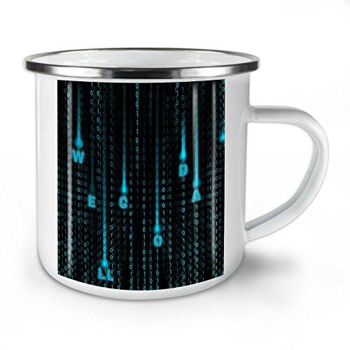Wellcoda Matrix Nummer Diagramm Emaille-Becher, Code Kunst - 10 Unzen-Tasse - Kräftiger, griffiger Griff, Zweiseitiger Druck, Ideal für Camping und Outdoor (Computer-programmierung-becher)