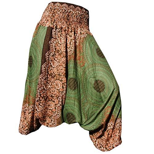 Kleine Schwester Kostüm Muster - PANASIAM Aladin Pants, Design-Style: Mandala 1, olivegruen