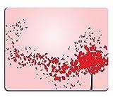liili Tapis de souris Tapis de souris en caoutchouc naturel d'image: 8986488Arbre Saint Valentin avec cœurs Vector Illustration