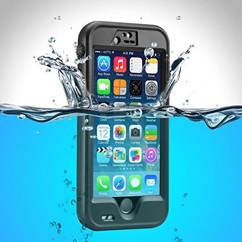 Preisvergleich Produktbild OKCS® Waterproof Case für das Apple iPhone 6 / 6s Schutzhülle Wasserdicht Outdoor Case Hardcover Robust Rundumschutz Exklusiv Edition mit Halterung