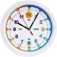 Amonev Time Teacher Children Wall Clock With Silent Movement. 30 Centimeter Diameter