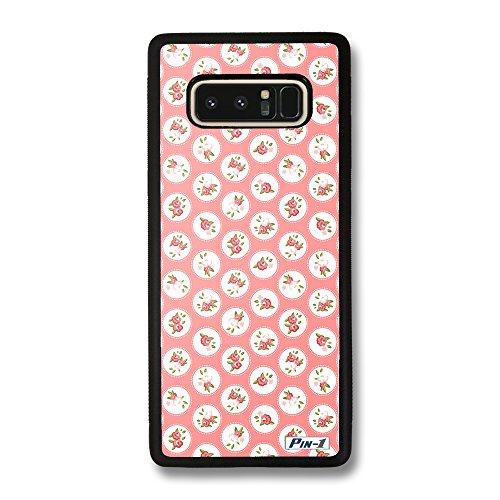 Rose Floral Wallpaper (Pin-1 Hülle, Harte Rückseite und TPU-Bumper Schutzhülle für [Samsung Galaxy Note8] - Art Design Floral Rose Wallpaper C 2603)