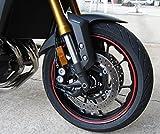 StickersLab - Strisce Moto adesive cerchi rifrangenti riflettenti marca 3MTM stripe for wheel 7mm x 6MT (Rosso)