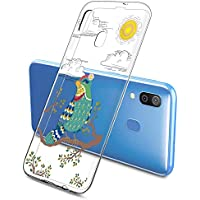 Suhctup Compatible con Samsung Galaxy S9+ Plus Funda de Transparente Silicona con Dibujos Lindo Animados Animal Diseño Patrón Cárcasa Suave Flexible Ultrafina TPU Antigolpes Protección Caso, Pájaro