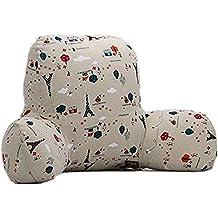 JYSPORT lumbar cojín sofá cama silla de oficina resto Almohadas Algodón Espalda Apoyo lectura almohada Funda extraíble 55 x 45 x 25 cm, 07, large