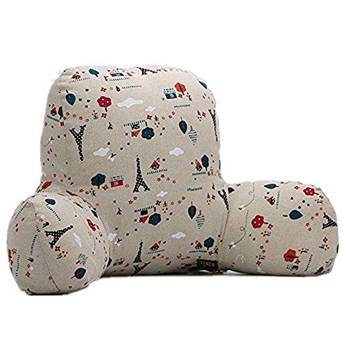 Colorfulworld Lendenkissen Stützkissen Bedrest Weich Plüsch Kissen für Auto, Bett, Büro-Stuhl und Sofa (65x40x26cm) (07)