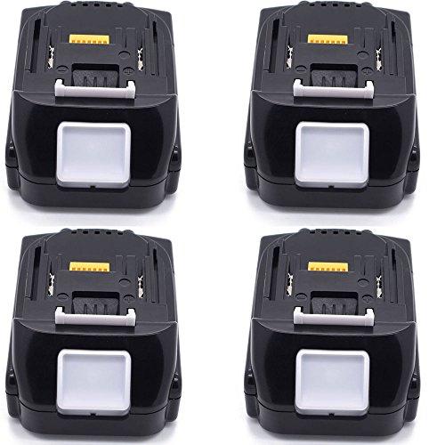 Preisvergleich Produktbild 4 X 14.4V li-Ion 1500 mAh 1.5 Ah Ersatzakku für Makita BL1415 BL1430 196875-4