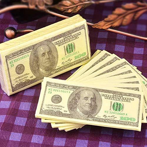 Wllenen 20 Packungen Us-Dollars Reine Hölzerne Paddel Taschentuch Papier Farbe Serviette Druck Papierhandtuch Taschentuch Papier Restaurant Papier