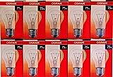 Osram Pack 10Glühbirnen Transparente Klassische Form-Sockel E27-75W