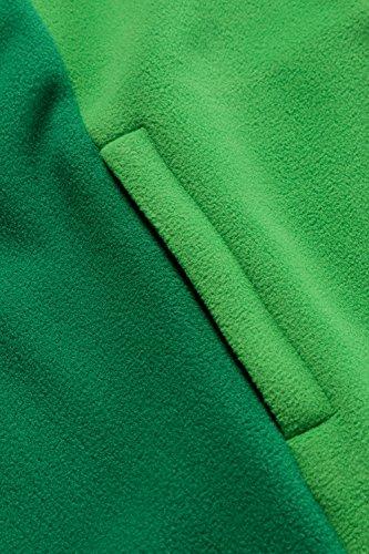 Ulla Popken Femme Grandes tailles Veste polaire 706960 vert lumière