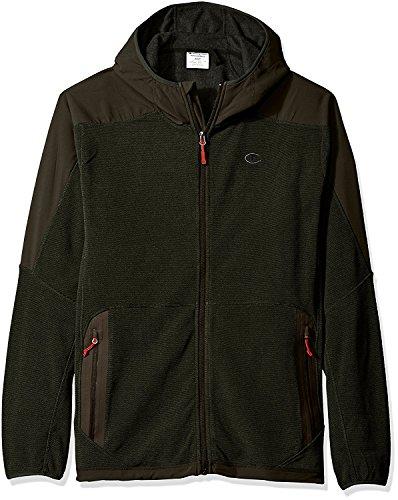 Champion Men's Tall Size Hooded Textured Fleece Jacket