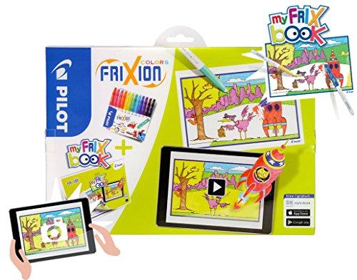 Preisvergleich Produktbild FriXion Colors interaktiver Geschenkkoffer - My FriX Book Set, bestehend aus 12 Filzstiften (radierbar) und Malbuch - Zusammen interaktiv mit der my FRIX App