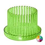 Orchitop S-Set - Design Orchideentopf inkl. Untersetzer für kleinere Orchideen, Farbe apfelgrün