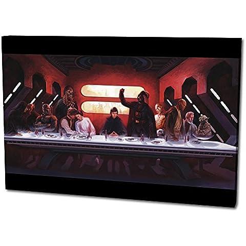 Star Wars Tela da parete Formato: 120x80 cm, qualità TOP! Illustrazione da parete realizzata in Germania disponibile in diverse misure, da quella piccola fino alla grande (XXL)! Stampa conveniente e incorniciata pronta per essere appesa - con motivo fantastico e unico nel suo genere. Non un semplice poster, né un manifesto! - Lungo Un Fotogramma