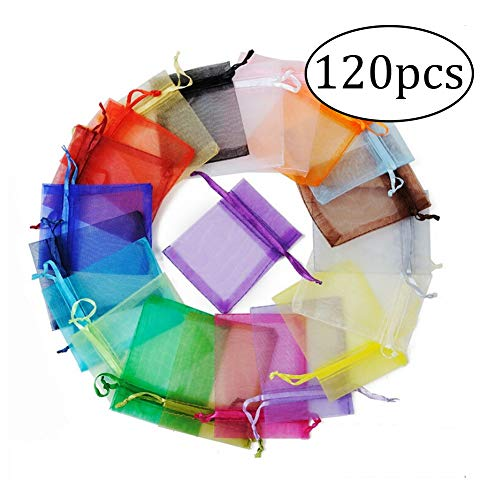 ZYCX123 120 PCS Organza Matériel Cordonnet Pouches Daily Stuff Les organisateurs de Bijoux Party Sacs Wedding Favor Cadeaux de Couleur variées