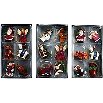 Gisela graham box of 12 mini christmas tree decorations kitchen home for Decor star 005 ss