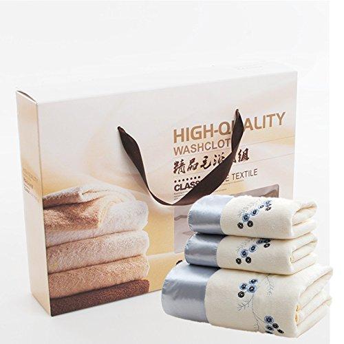 ZHFC handtücher handtücher drei stück box hochzeit hochzeit geburtstag geburtstag 35 * 75cn welfare - gruppe kaufen,blauer drache white