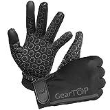 Pantalla táctil Guantes–Ideal para Correr de fútbol y Rugby Walking, color Negro - negro, tamaño mediano