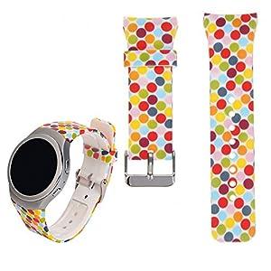 Für Samsung Gear S2 SM-R720 / R730 Ersatz Uhrenarmband – iFeeker Zubehör Soft Silikon Buntes Sport Armband Gemeinsamer Design für Samsung Galaxy Gear S2 SM-720 / SM-730 Smart Watch