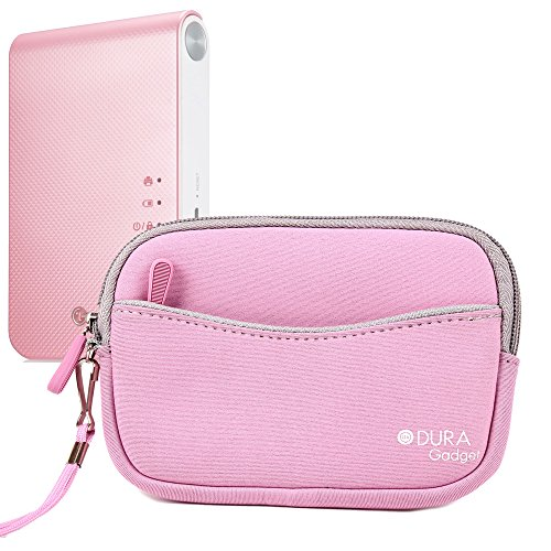 DURAGADGET Housse étui rose néoprène pour LG Pocket Photo Smart PD233, Poche photo 2 PD239, PD241/241T et Photo 3 PD251 Mini imprimante photo