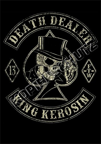 Limitiert !! King Kerosin Poster/Plakat Death Dealer (Team-grafik Race)