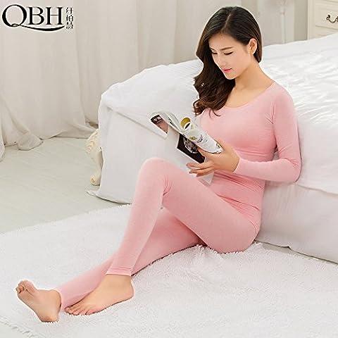 ZHANGYONG*Corpo caldo bra sottile, Choo Choo Pantaloni donna yi round-collare costituente la Sau San Kit , autunno e inverno sono codice , rosa