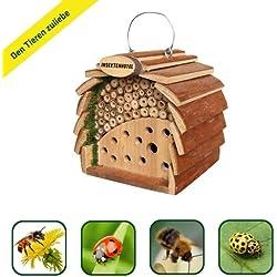 Gardigo Hotel de los insectos para las abejas y mariquitas, color de madera natural, la protección natural de la planta, áfidos recursos naturales