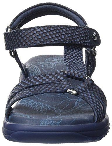 PANAMA JACK Damen Neus Snake Offene Sandalen mit Keilabsatz Blau (Navy)