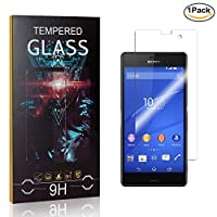 MoKiin Tempered Glass Screen Protector for Sony Xperia Z3 Compact, Anti Fingerprint, 9H Hardness Tempered Glass, Bubble Free Screen Protector Film, 1 Pack