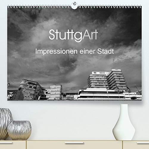 StuttgArt - Impressionen einer Stadt(Premium, hochwertiger DIN A2 Wandkalender 2020, Kunstdruck in Hochglanz): Eindrucksvolle Schwarz-Weiß ... (Monatskalender, 14 Seiten ) (CALVENDO Orte)
