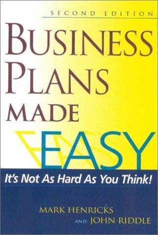 Business Plans Made Easy by Mark Henricks (2002-06-15) par Mark Henricks;
