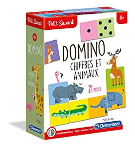 Clementoni pequeño Savant-Domino números y Animales, 52360
