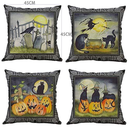 Holloween Kostüm Fotos - Myspace 2019 Neueste Dekoration für Halloween SCARY WEEK Halloween Kürbis Kissenbezug Taille Kissenbezug Home Decor 4St