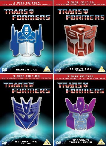 Transformers the Complete Original Animated Cartoon Series DVD Collection [11 Discs] Season 1, 2.1, 2.2, 3 and 4 + Extras by Peter Wallach