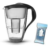 PearlCo Jarra con vidrio filtro de agua 2L (antracita) (compatible con Brita Classic)