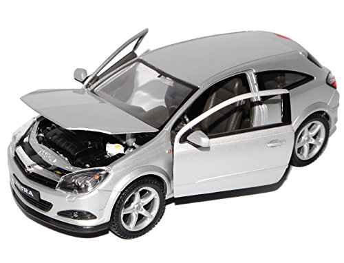 Opel Astra Gtc Coupe Silber Silver 2006 Metallmodell 1/24 Welly Modellauto Modell Auto