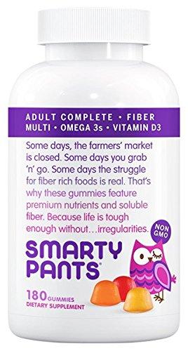 SmartyPants - All-in-One Multivitamin + Omega 3s + Vitamin D für Erwachsene - 180 Gummies