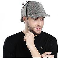 EINSKEY Chapeau Sherlock Holmes, Angleterre Unisexe Sherlock Holmes Cap Hat de Détective de Deerstalker
